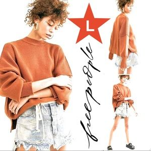 FREE PEOPLE oversized sweater L NWT (VIDEO)